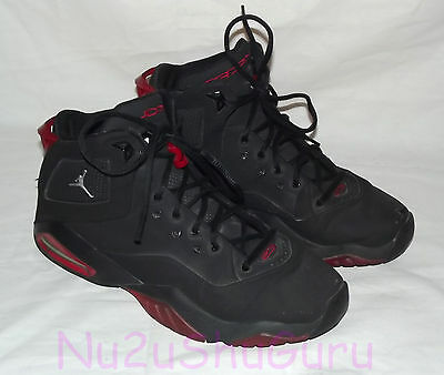 NIKE Air Jordan B'Loyal Black/Red Basketball Sneakers Mens Size 10.5