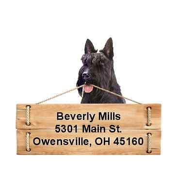 Scottish Terrier return address labels DIE CUT TO SHAPE