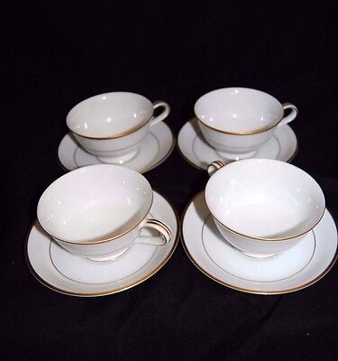 Noritake, Guiflord China, Footed Cup & Saucer Set, Set of 4, # 5291