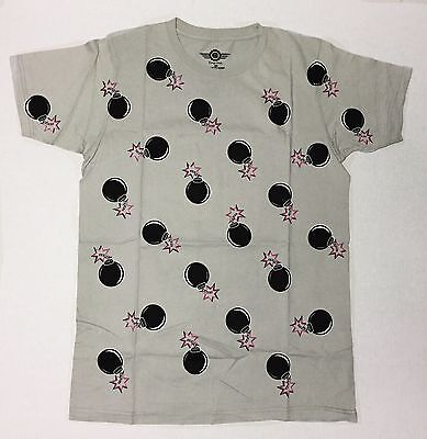 Drop That - Bombs - Men's 2X-Large Grey T-Shirt Graphic Tee  Funny  2XL