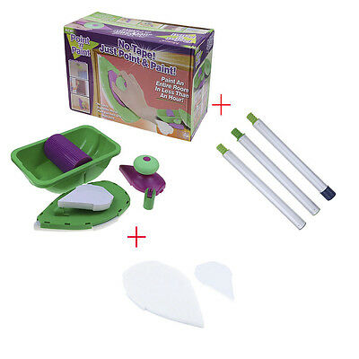 DIY Paint Roller Home Paintings System Just Point 'N' and Paint W Sticks Sponges