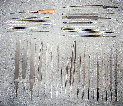 Lot Of ( 33 ) Machinist Different Types Of Files