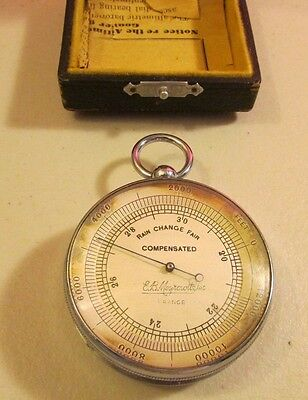 VINTAGE RARE ANTIQUE BAROMETER THERMOMETER E.B. Meyrowitz -see pics-