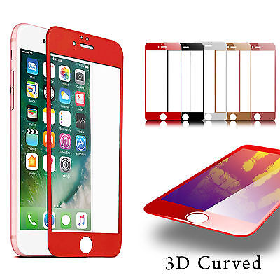 3D FULL Cover TEMPERED GLASS Screen Protector for Apple iPhone 7 6 6s Plus