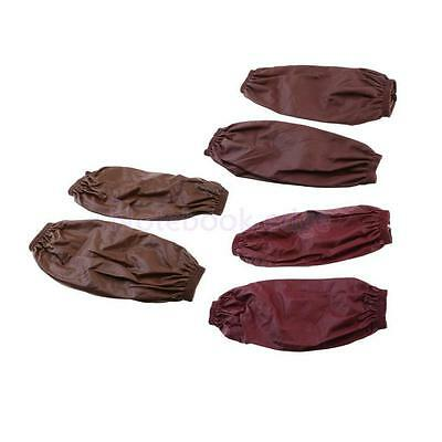 PU Leather Sleeves in 3 Colors with Elastic Line for Laboratory Easy to Clean