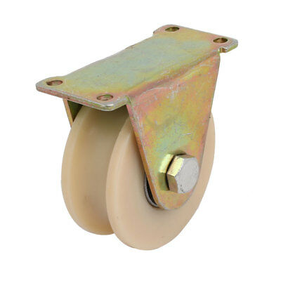 3-inch Dia 300KG Capacity U Groove Rigid Caster Wheel for Industrial Machines