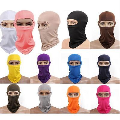 Outdoor Cycling lycra Balaclava Full Face Mask Ski Ultra-thin Neck Protecting AA