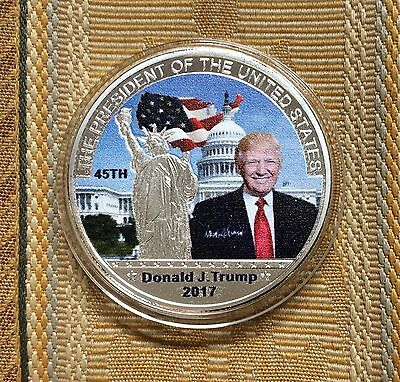 Lot 2-U.s.a,usa,donald Trump Us President Commemorative Sp Coin.uncirculated.