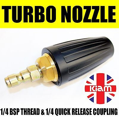 TURBO NOZZLE Spinning Spray Jet 11.6mm Quick Release Male for Pressure Washer