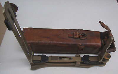 WW2 dated 1940 leather cased timbers mark VI clinometer by P.T.I Co ltd No b1547