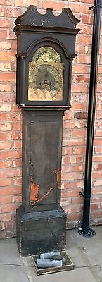 Very Rare Early Tidal Pine Grandfather Clock By William Townly CHEPSTOW