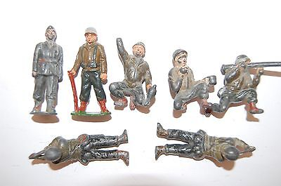 Job Lot Of Vintage Timpo Lead Soldiers