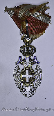 Serbia Yugoslavia Order of White Eagle Medal W/ Ribbon WWI Imperial Russia