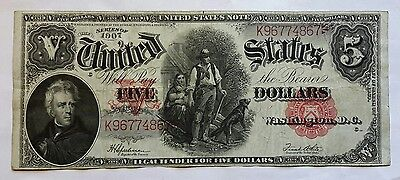 1907 Five Dollar U.s. Woodchopper Note