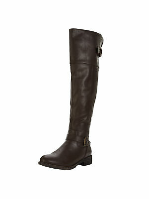 V By Very Luciana Cleat Sole Casual Flat Over The Knee Boots