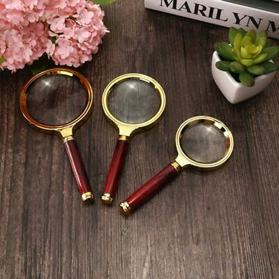60/70/80MM 5X/10X Handheld Jewelry Magnifier Magnifying Glass Jewelry Loupe FNM