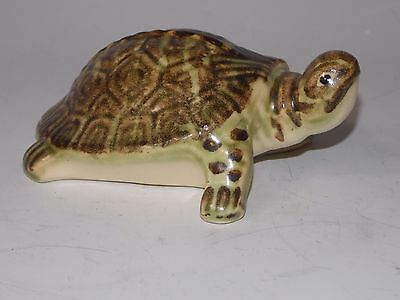 VINTAGE BRUSH McCOY POTTERY Green TURTLE Terrapin GARDEN ORNAMENT