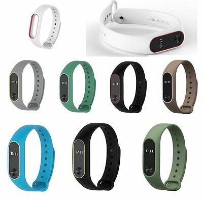 8 Colors Mibos Silicone Replacement Strap Wrist Band for Miband 2 Soft Belt FNM