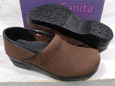 Sanita Womens Professional Antique Brown Slip On Clogs Shoes size 9 N US 40 EU
