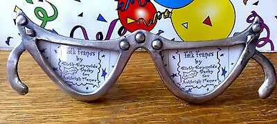 CAT EYE GLASSES Folk Pewter Picture Frame Ruth Reynolds Darby for Ashleigh Manor