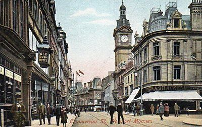 """""postcard Commercial Street,newport,monmouthshire,wales"""""