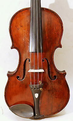 Rare english 7/8 violin 19th century,  ca. 1880