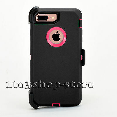 iPhone 7 Plus iPhone 8 Plus Case w/Holster Clip Fit Otterbox Defender Black Pink