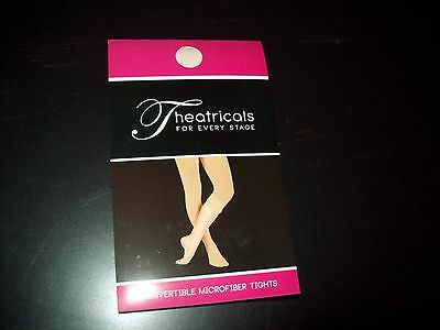 Theatricals Convertible Microfiber Tights Adult Ballet Pink Size Small NIP T5515