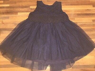 NEXT Girls Navy Party Dress Age 9-12m EXCELLENT CONDITION