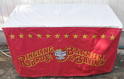 Ringling Brothers Circus Vinyl Table Cover 4 FT X 2 FT Very Unique Very RARE!!!!