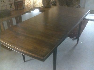 Retro Rosewood Veneer Extendable Dining Table Mid Century Danish Feel £125!