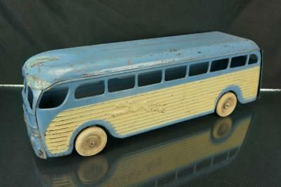 1940's Kingsbury Pressed Steel Greyhound Bus 228 Wind Up Toy For Parts As Is