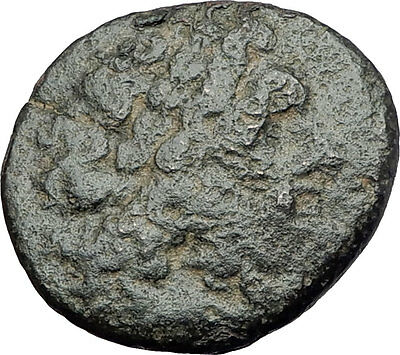 350-100BC Authentic ANCIENT Original Greek City Coin ZEUS THUNDERBOLT i61557