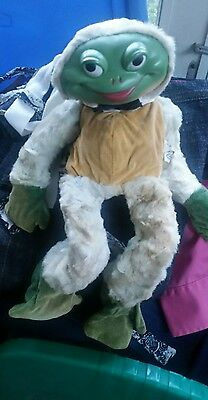Vintage Rubber Face Plush Smiling Frog  Knickerbocker
