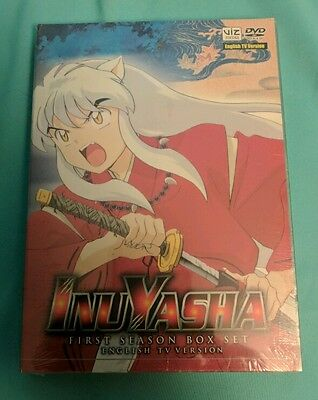 Inuyasha First Season 1 English TV Version DVD Box Set New, Sealed