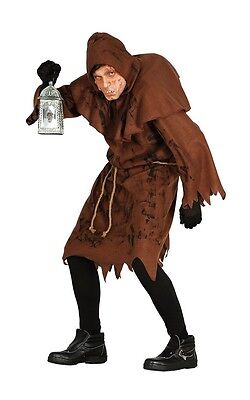 Hunchback Of Notre Dame Monk Mens Fancy Dress Costume Quasimodo Halloween Outfit