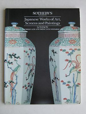 Vtg 1991 Sotheby's Auction Japanese Netsuke Carvings Paintings Art Catalog Book