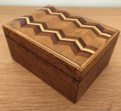 Stunning Wooden Inlaid Marquetry Box
