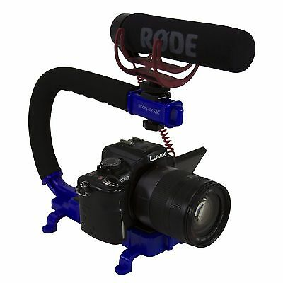 Cam Caddie Scorpion Jr Stabilizing Camera Grip for Sony Canon GoPro DSLR in Blue