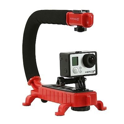 Cam Caddie Scorpion Jr Stabilizing Camera Handle for Sony Canon GoPro DSLR (Red)