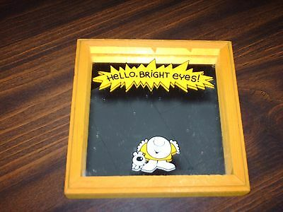 Ziggy Vintage Yellow Wood Frame Mirror HELLO BRIGHT EYES