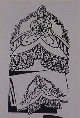 Elegant Southern Belle Embroidery Crochet Pillowcases Pattern Sewing Project