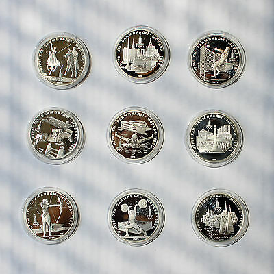 Russian Silver Olympic 5 Rouble Coin Lot - 1977-1980, Ruble, USSR, Set