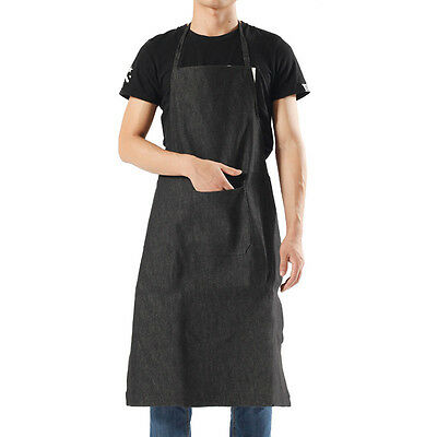 New Working Apron Tea Shop Staff Uniform Bib Wearproof Salon Hairdresser Apron
