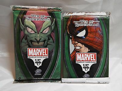 Vs System Web Of Spiderman-Man Sealed Booster Pack