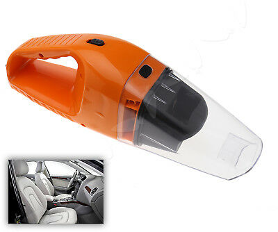 12V Mini Handheld Portable Car Vacuum Cleaner Hoover Wet Dry Bagless Van Orange