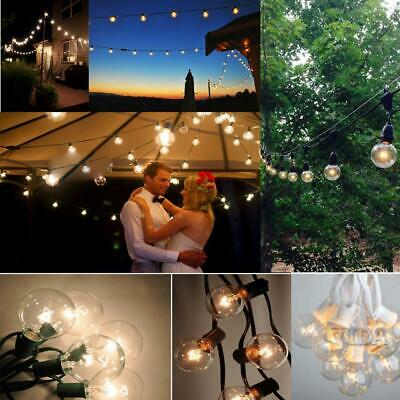 Outdoor String Lights for Patio Globe Party Weddings Light Bulb 25FT G40 US