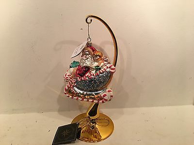 New Christopher Radko Candy Ride 99-103-0 Christmas Ornament Santa Sleigh