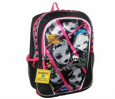 "MONSTER HIGH MATTEL 16"" Full-Size Backpack w/ Optional Insulated Lunch Box NWT"