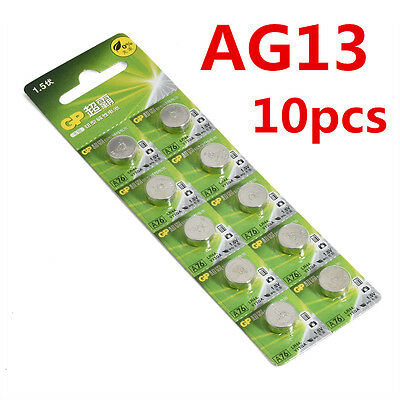 Lots 10pcs AG13 GP LR44 A76 SR66 1.5V Button Cell Coin Battery Batteries